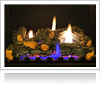 Fireplace conversion services by Wright Lighting and Fireside